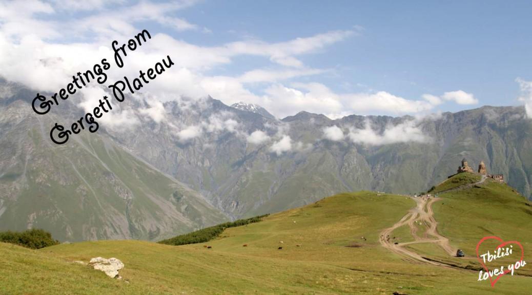 Kasbegi Gergeti plateau