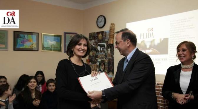 Antonio Enrico Bartoli Ambasciatore d'Italia visita la Dante Alighieri di Tbilisi