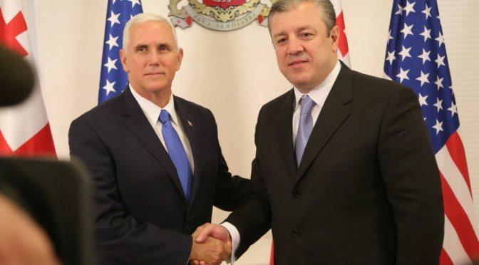 Il vice Presidente Americano Pence in visita ufficiale a Tbilisi