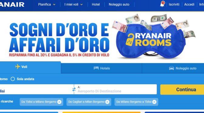 Ryanair vola su Tbilisi da Milano Bergamo