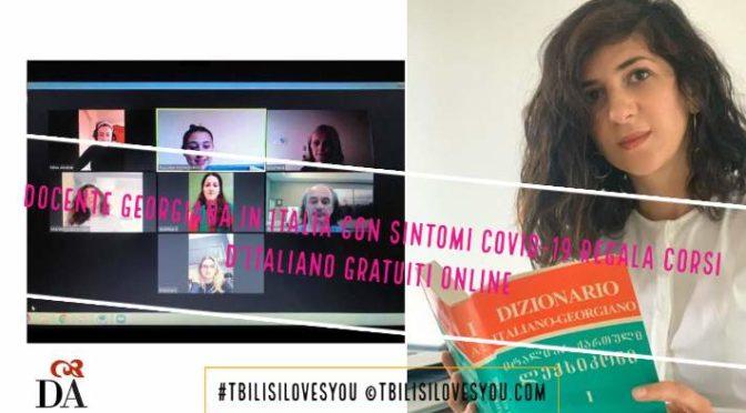 Docente georgiana in Italia con sintomi Covid-19 regala corsi d'italiano gratuiti online