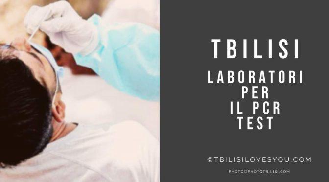 Tbilisi laboratori per il PCR test